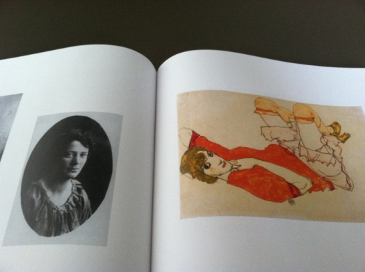 1913. Wally in Red Blouse with Raised Knees in Egon Schile's Women